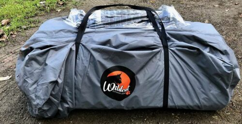 This is the Wildcat Outdoor Gear Lynx 640 tent packed.