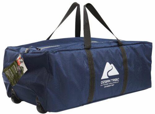 The wheeled carry bag.