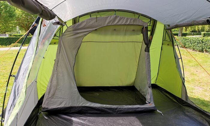 The second inner tent with a single sleeping room.