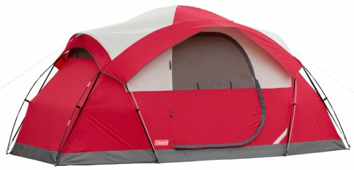 Coleman Cimmaron 8-Person Modified Dome Tent front view.