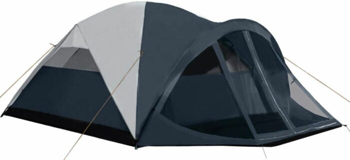 Pacific Pass 6 Person Family Dome Tent with Screen Room.