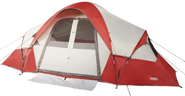 Wenzel Bristlecone 8 Person Modified Dome Tent front view.