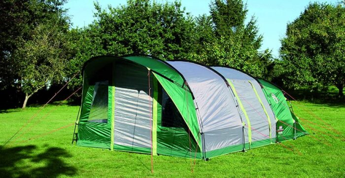 This is a tall and pleasant family camping tent.
