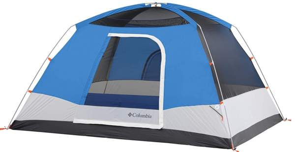 This is how the Columbia Modified 6 Person Dome Tent looks without the fly.