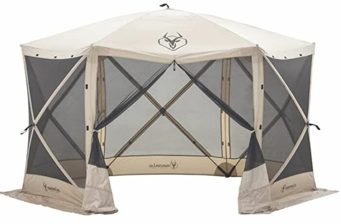 Gazelle Tents 21500 G6 Pop-Up Portable 6-Sided Hub Gazebo/Screen Tent 8 Person