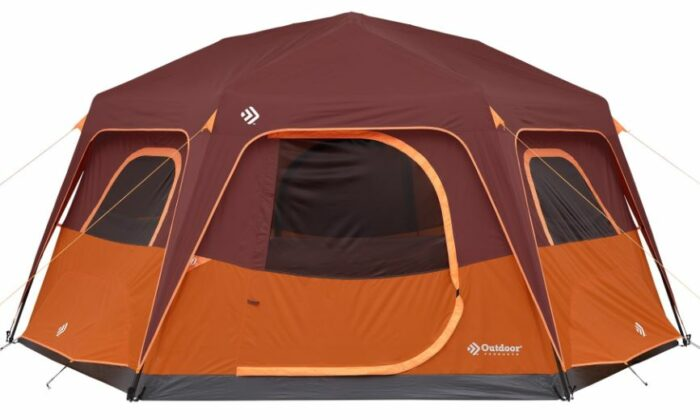 Outdoor Products 8 Person Instant Hexagon Tent with Built-in Lights.