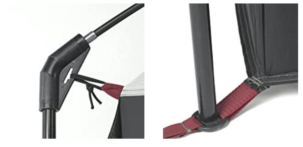 Details from poles' attachment and connection.