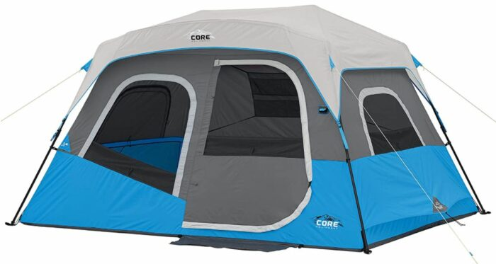 Core Lighted 6 Person Instant Cabin Tent.
