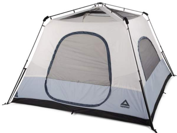 This is the tent without its fly.