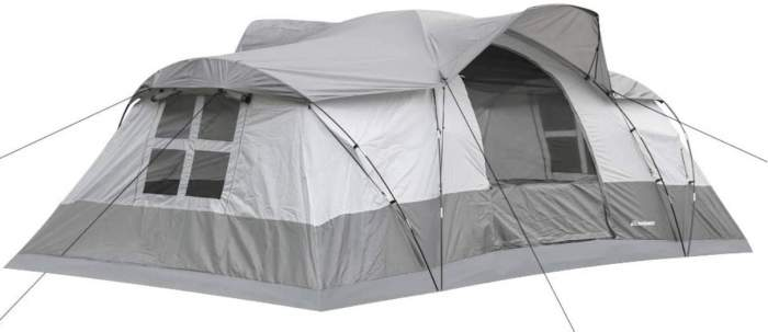 EchoSmile Camping Instant Tent front view.