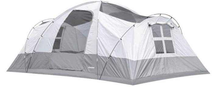 This is how the tent looks without the fly.
