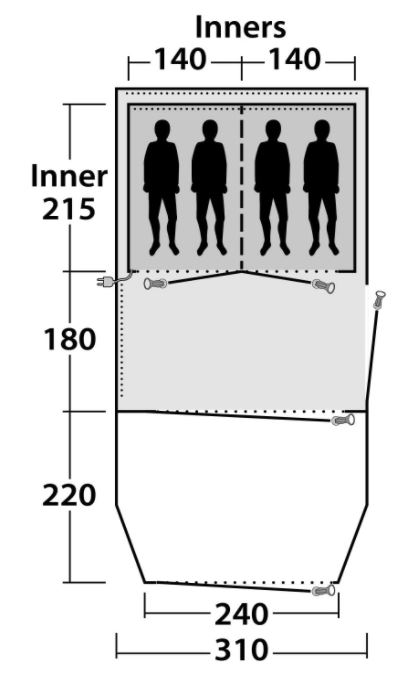 Floor plan and dimensions.
