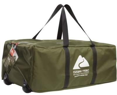 A wheeled carry bag.