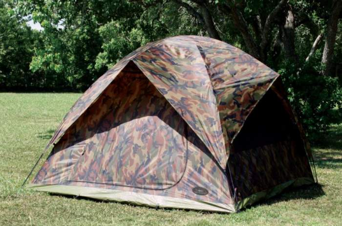 Texsport Headquarters Camouflage 9' x 9' Square Dome Tent.