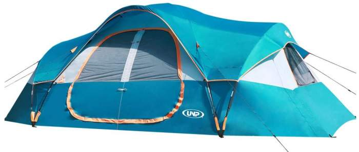UNP Camping Tent 10-Person front view.