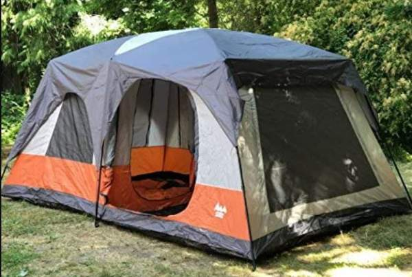 This is the tent under its fly.