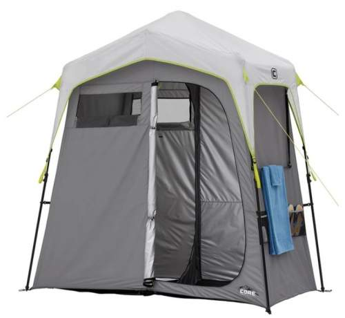 Core Instant Camping Utility Shower Tent with Changing Privacy Room.