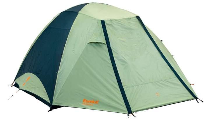 Eureka Kohana 6 Person Family Camping Tent under its full-coverage fly.