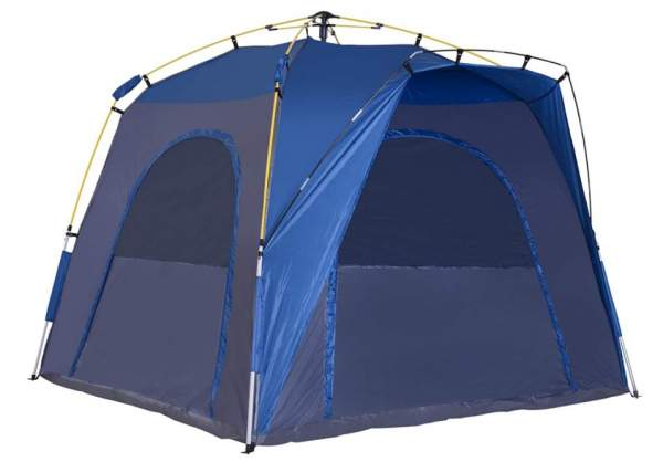 Outsunny Easy Pop Up Tent 5 Person Automatic Hydraulic Family Quick Setup up Tent.
