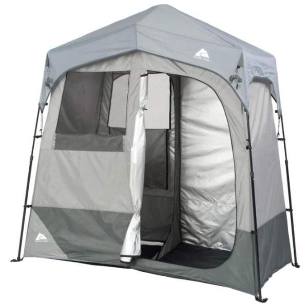 Ozark Trail 2-Room 7' x 3.5' Instant Shower/Utility Shelter.