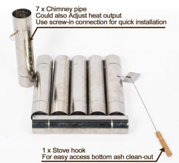 Pipe with a damper is included.