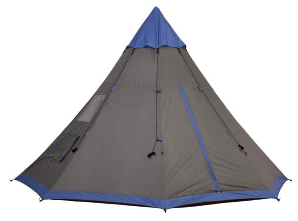 Outsunny Large 6-Person Metal Teepee Camping Tent