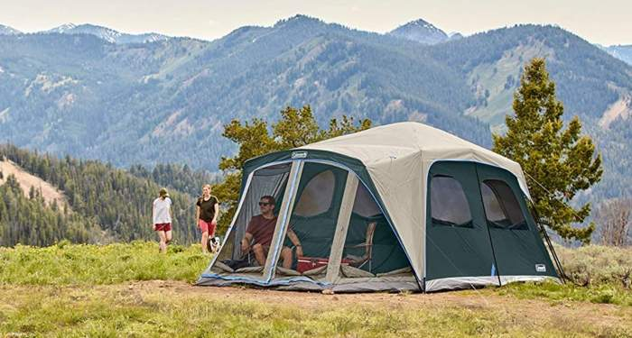 Huge tent, but the official capacity is unrealistic.