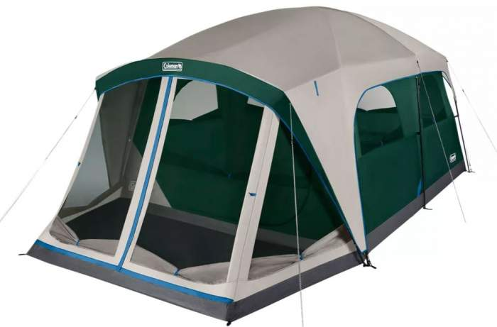 Coleman Skylodge 12 Person Tent with Screen Room view.