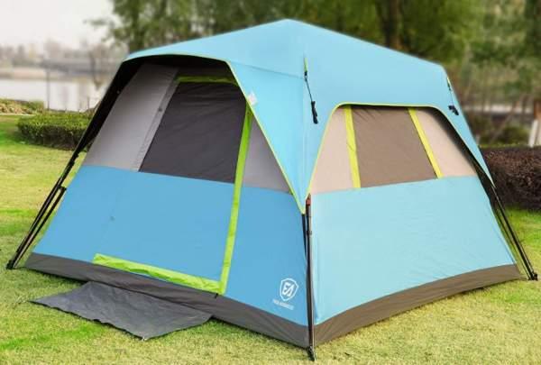 EVER ADVANCED Instant Cabin Tent 6 Person.