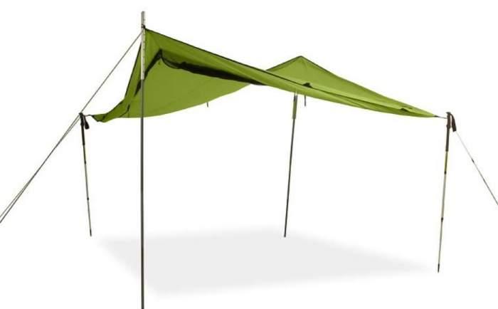 NEMO Bugout Tarp Shelter used as a sun shade.