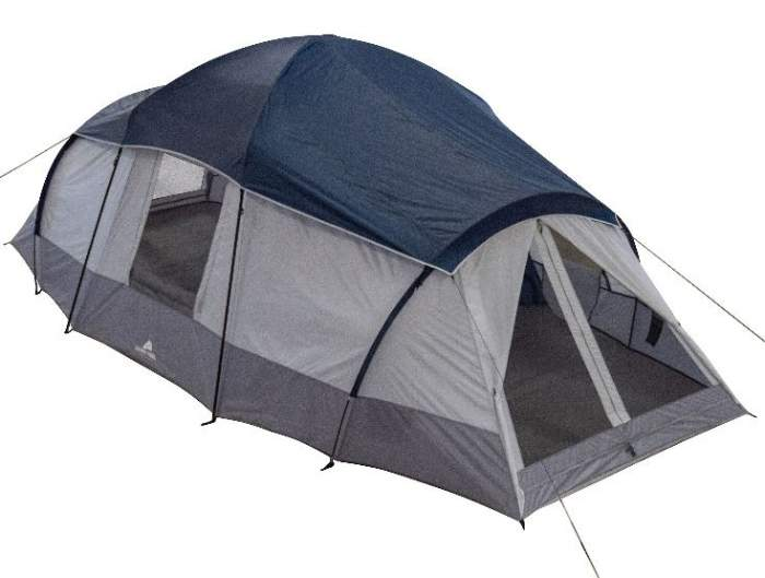 Ozark Trail 10 Person Tent 3 Rooms 20 X 10.