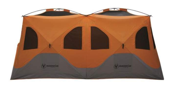 Gazelle T8 Extra Large 8 Person Portable Instant Pop Up Camping Hub Tent without the fly.
