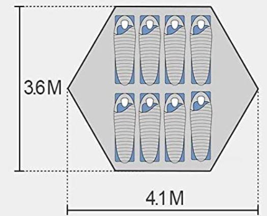 Hexagonal base.