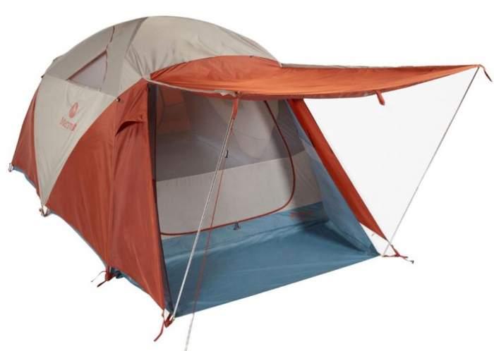 Marmot Torreya 6P camping tent.