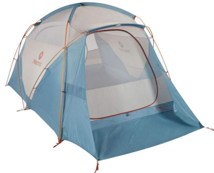Marmot Torreya 6 Person Tent shown without the fly.