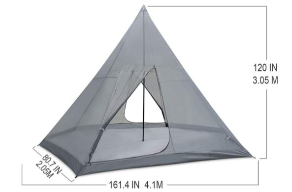 Very tall tent.