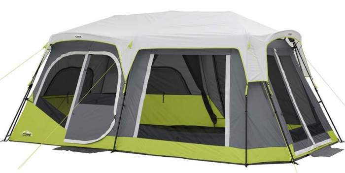 CORE Two Room 12 Person Instant Cabin Tent with Side Entrance.