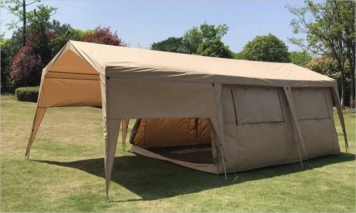Dream House Double Layers Waterproof Safari Glamping Tent.