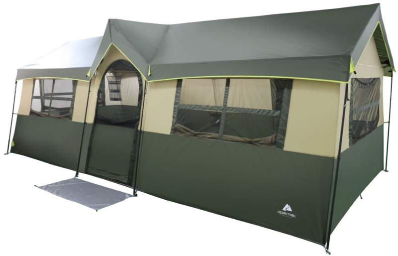 Ozark Trail Hazel Creek 12 Person Cabin Tent.
