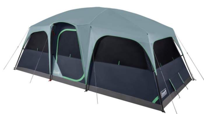 Coleman Sunlodge 12-Person Camping Tent.