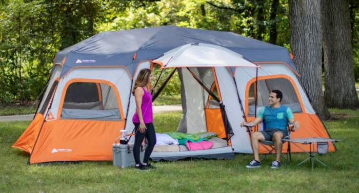 Ozark Trail 18 x 10 Instant Cabin Tent with Integrated Led Light.