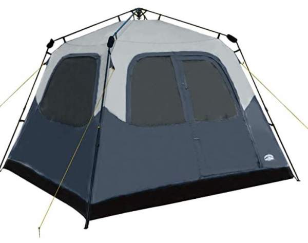 Pacific Pass Camping Tent 6 Person Instant Cabin.