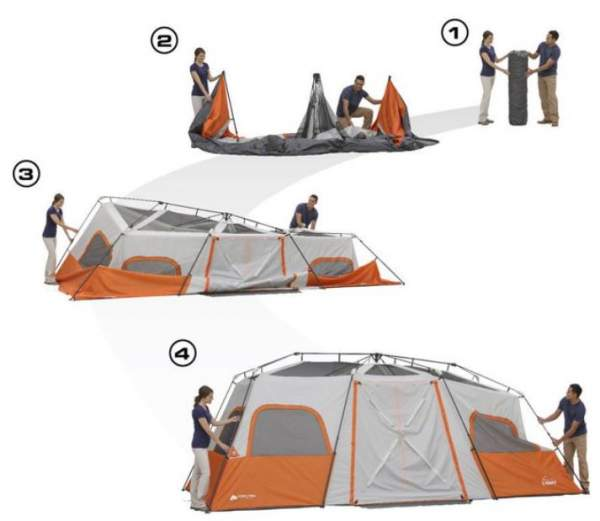 The most important steps in setting this tent up.
