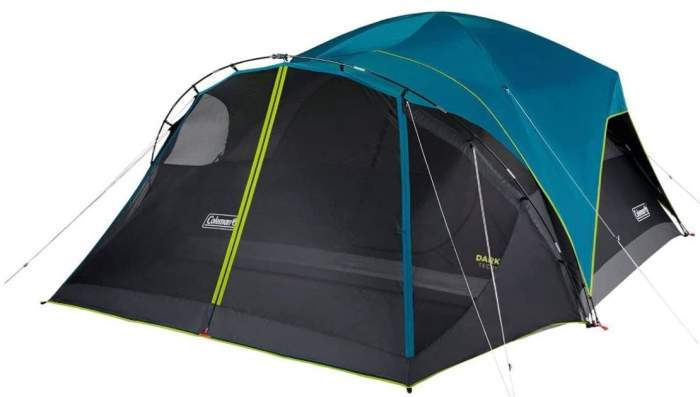 Coleman 8-Person Carlsbad Dark Room Dome Camping Tent with Screen Room