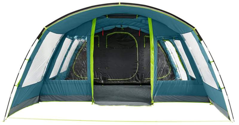 Front view in the tent.