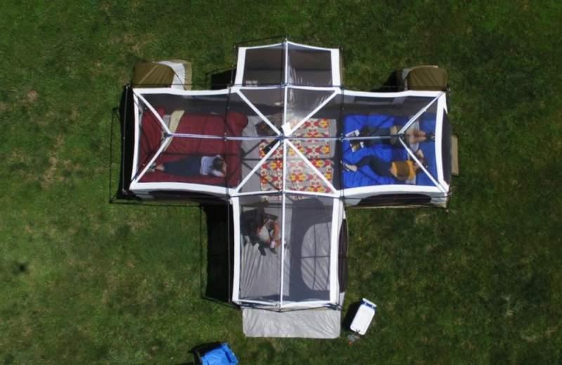 Ozark Trail Flat Creek 12 Person Family House Tent.