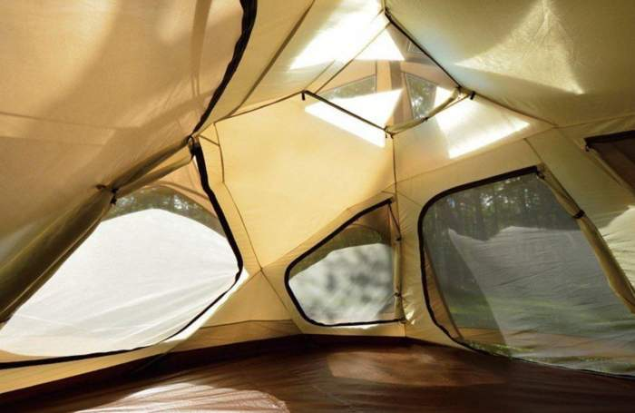 View inside when the inner tent is attached.