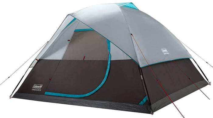 Coleman OneSource Camping Dome Tent 6 Person.